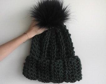 c60d10e55c8 Items similar to Ribbed Beanie Chunky Hat
