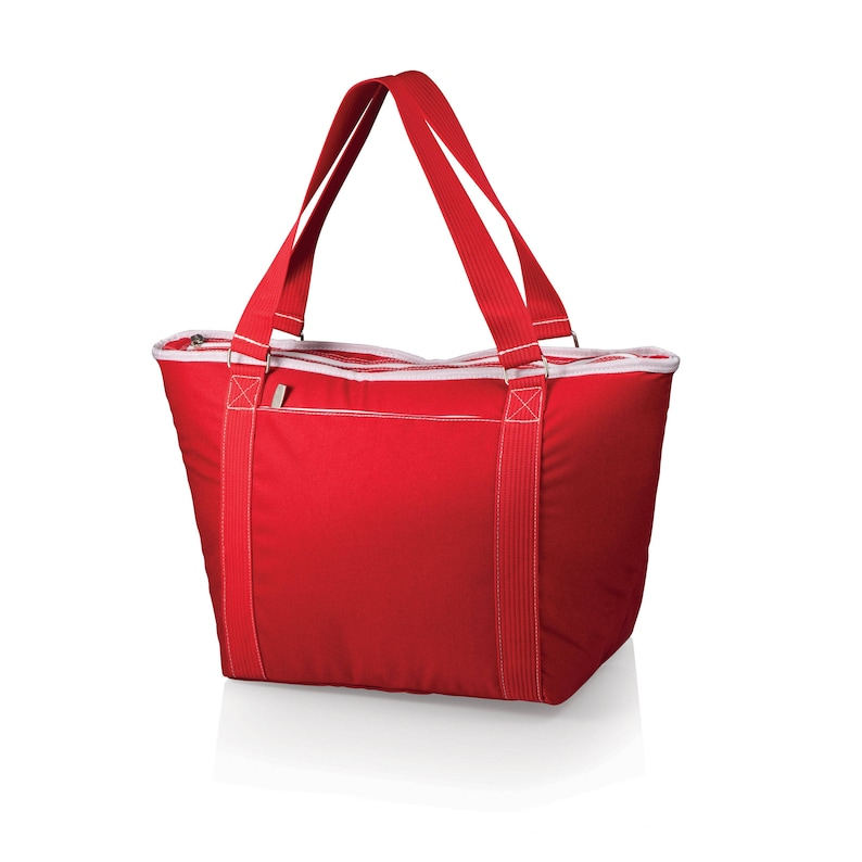Insulated Cooler Tote with water resistant liner and zippered pocket