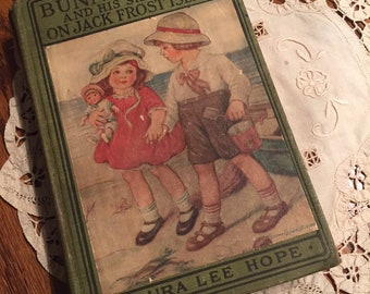 Vintage Children's Book, Bunny Brown and His Sister Sue on Jack Frost Island, First Edition, 1927