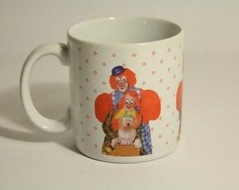1986 Snapshot Mugs Clown couple mug
