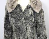 Vintage Clothing Fur Coat 1960 39 s Persian Lamb Vintage Clothing Women 39 s Fur Coats Swing Style Coat Cropped Fur Grey Lamb Fur