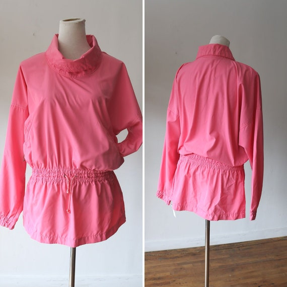 90s Pink Windbreaker - Vintage -  Pullover Windbre