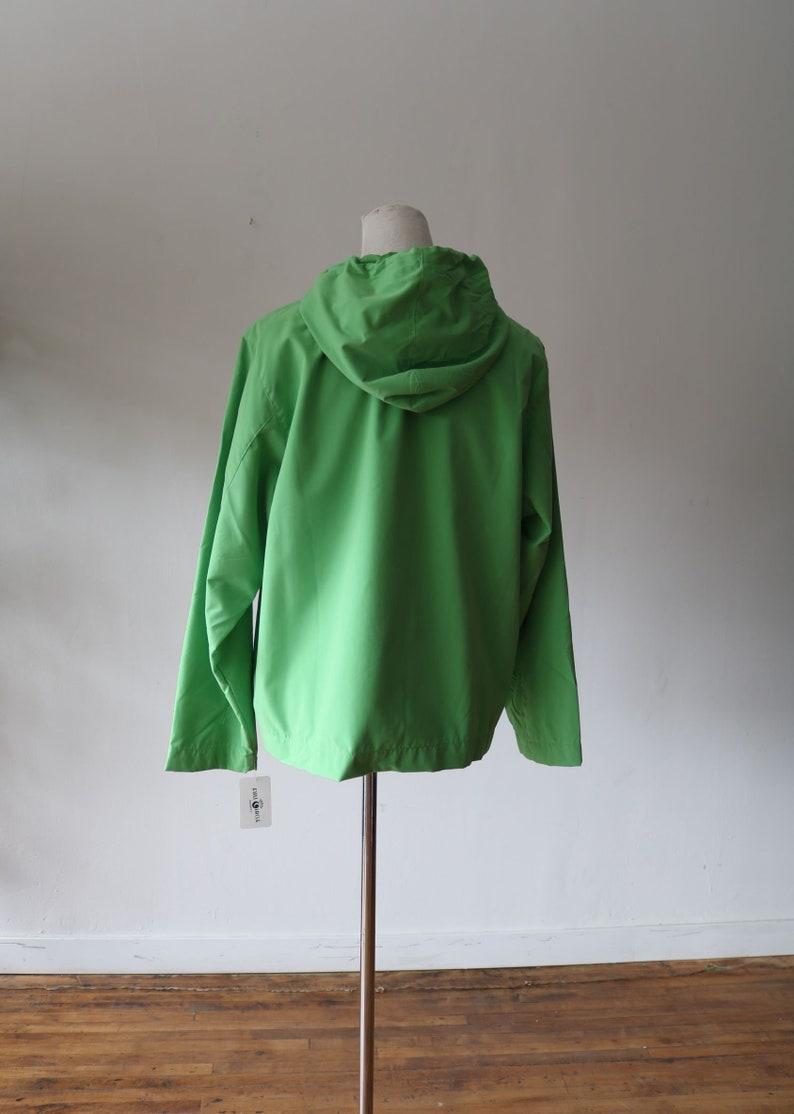 Pockets Hooded 90/'s Vintage Pale Green Windbreaker -Raincoat Unisex Plain Simple Basic 90/'s Windbreaker Rain Jacket  Spring Coat