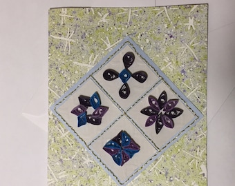 Quilled Quilt Square Card
