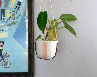 Hanging Planter | Leather