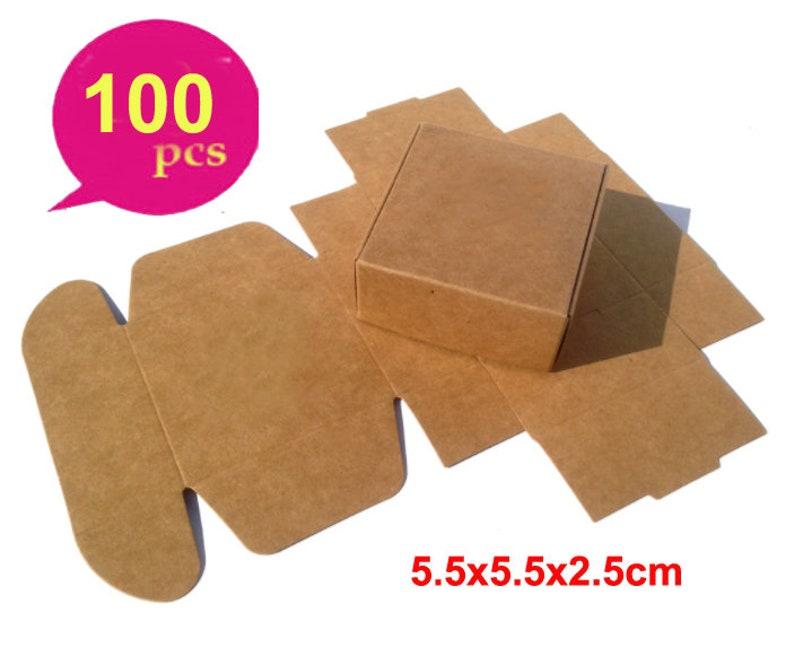 56fbbb37040 100pcs Kraft Paper Box Small Brown Kraft Jewelry Wedding
