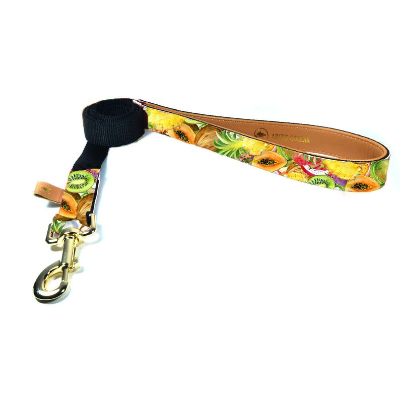 Summer dog leash  The Tutti Frutti leash  Dog leash matching with Tutti Frutti collar  Fruits dog leash  Tropical dog leash  Mango