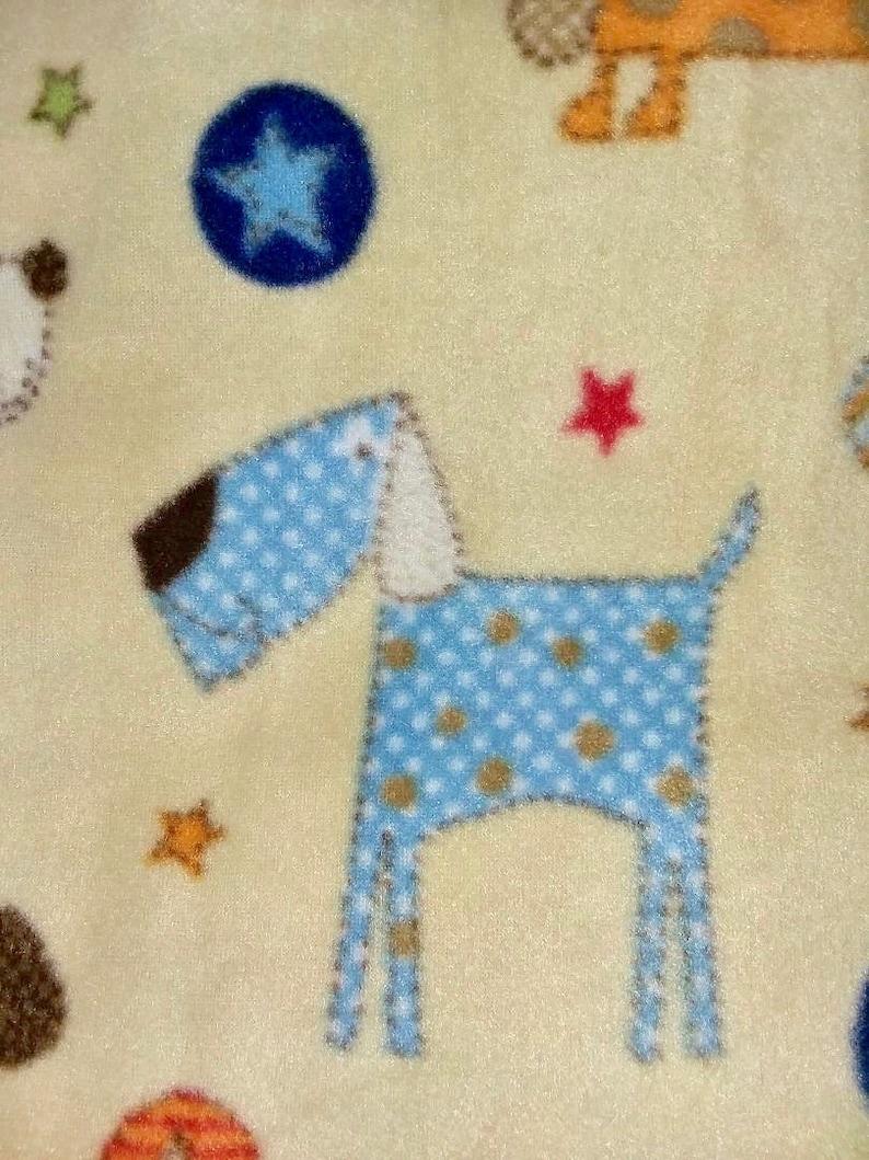 Happy Puppies Fleece Blanket Throw MEDIUM SIZED