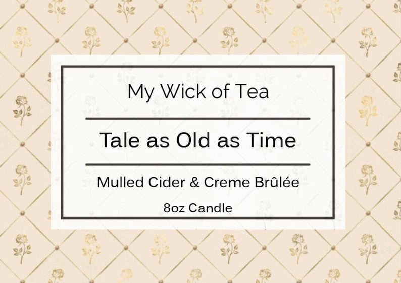 Belle Inspired Tale as Old as Time Candle Beauty and the Beast