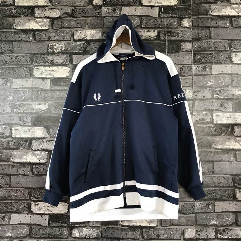 40da5280835948 FRED PERRY Vintage 90s Hoodie Fred Perry Embroidery Logo on | Etsy
