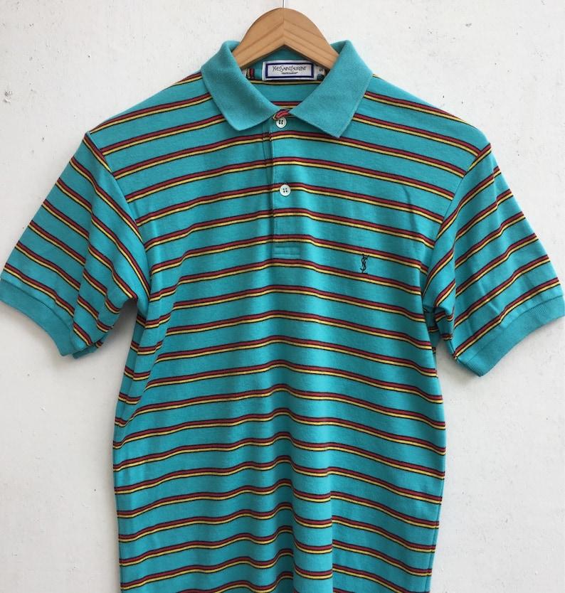 b195c3d1201 Vintage YVES SAINT LAURENT Tricots Pour Homme Polo Shirt | Etsy