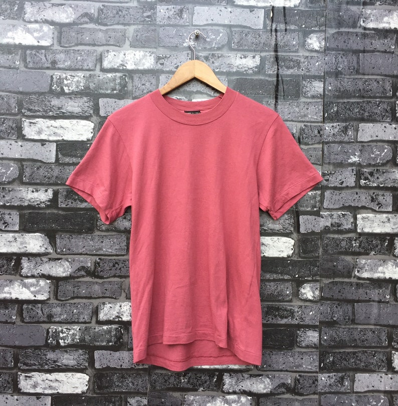 COMME Des GARCONS Basic Pink Plain Made in Japan T Shirt Small Size #949