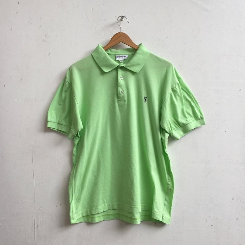 b337256d Vintage Yves Saint Laurent Polo Shirt Italian Designer Rare   Etsy