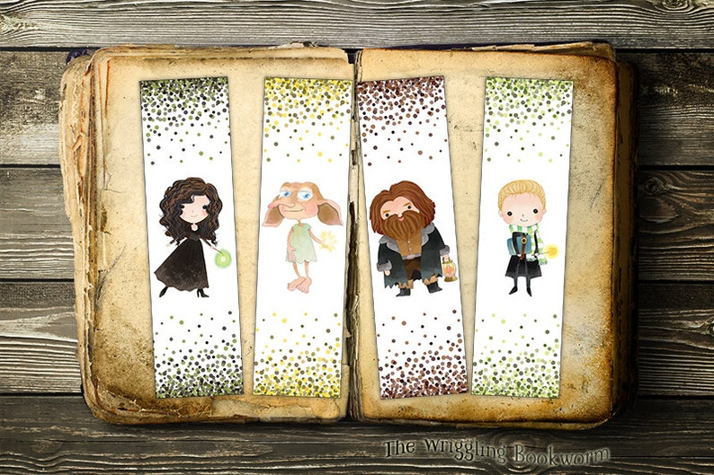 photo about Printable Harry Potter Bookmarks called Printable Harry Potter Bookmarks Bellatrix Dobby Hagrid Malfoy  Slytherin Place Elf Harry Potter Quick Obtain