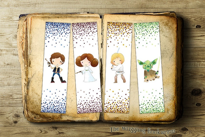 graphic about Star Wars Bookmark Printable called Printable Star Wars Bookmark Fastened Han Solo Princess Leia Luke Skywalker Yoda Instantaneous Obtain The Darkish Aspect