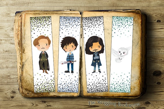 Printable Harry Potter Bookmark Set Remus Lupin Neville Etsy