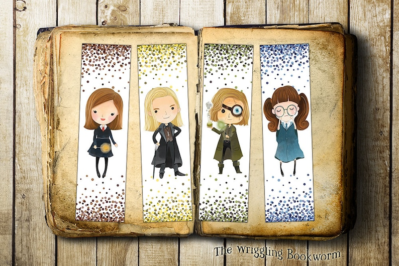 image about Moaning Myrtle Printable referred to as Printable Harry Potter Bookmark Established Ginny Weasley Insane-Eye Moody  Lucius Malfoy Moaning Myrtle Prompt Down load E-book Husband or wife