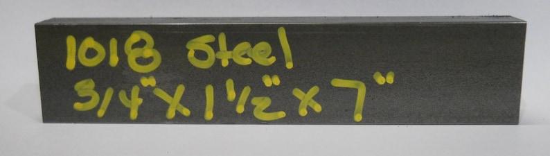 Three 1018 cold rolled steel guillotine die blanks