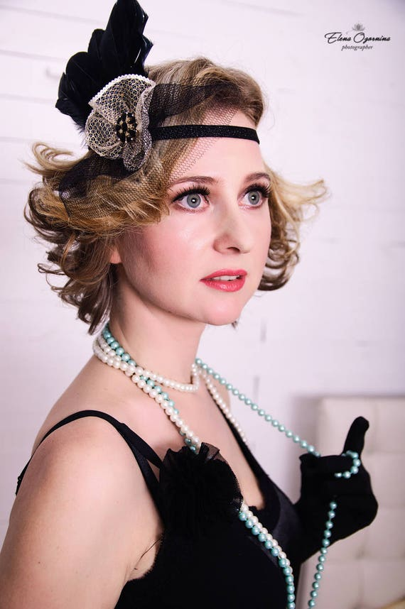 Great Gatsby 20 s flapper Headpiece Vintage Inspired Gold  d02431f988ce