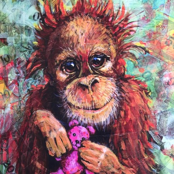 Image result for orangutan art