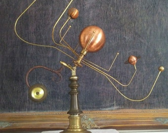 Antiqued Orrery by South Carolina artist, Will S. Anderson