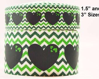 Green 24 Berisfords Ribbon r4380015 15mm Width Rustic Hearts Ribbon Cream and Green Ribbon