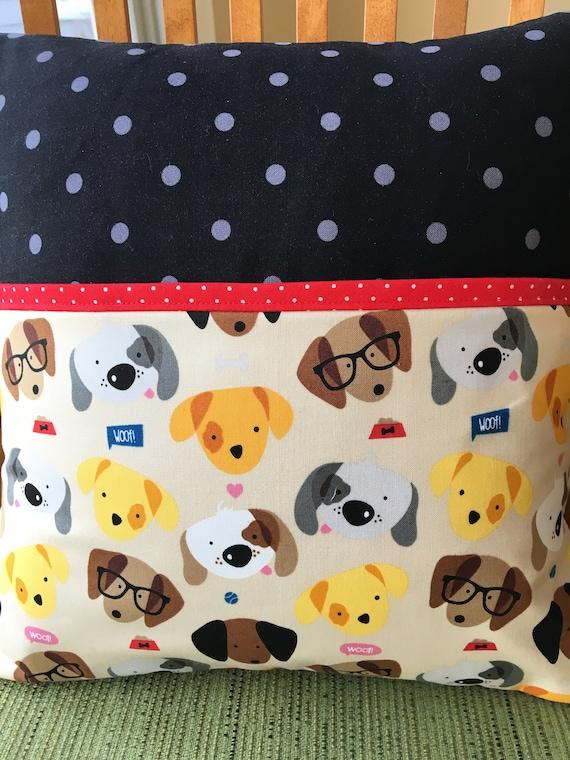 Dogs Pocket Reading Pillow Reading Baby Gift Birthday Etsy