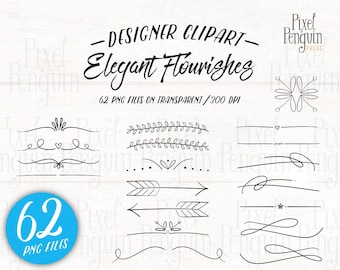 Hand Drawn Wedding Clip Art, Doodle Text Divider, Hand Drawn Clipart Arrow, Page Divider, Doodle Clipart, Digital Divider, Flourish Stamp