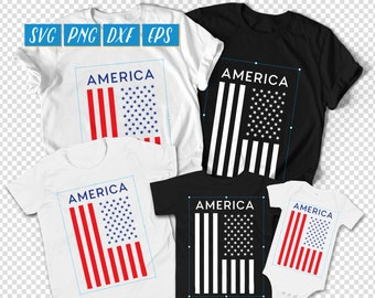 America Flag Shirt svg, Family Independence Day, USA Flag SVG, USA Flag dxf, American Flag Digital, America Shirt svg, 4th of July svg