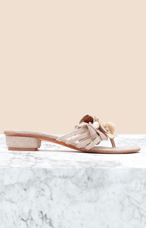 Ramon Tenza Vintage Thong Sandals • Size 7