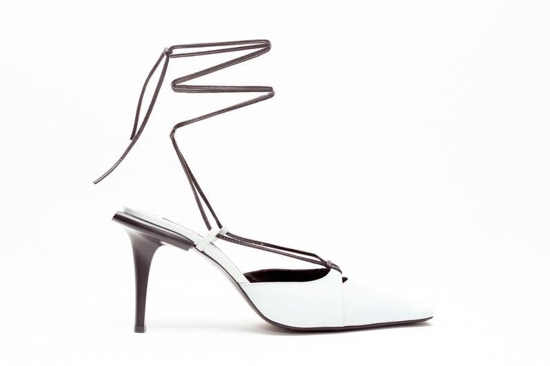 2e03335efe2d51 Karl Lagerfeld Vintage Schuhe schnüren Pantoletten in Baby