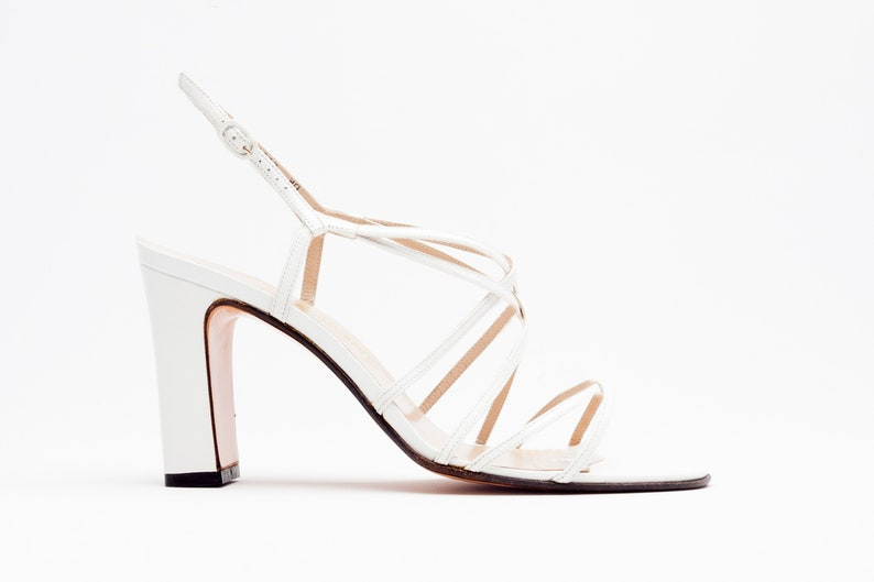 3d59fdc89 Salvatore Ferragamo Vintage Sandals Strappy Sandals in White