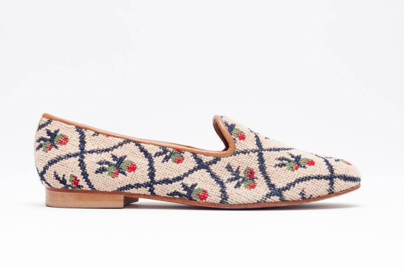 1b8a6361325 Zalo Vintage Shoes Smoking slippers featuring a Patterned