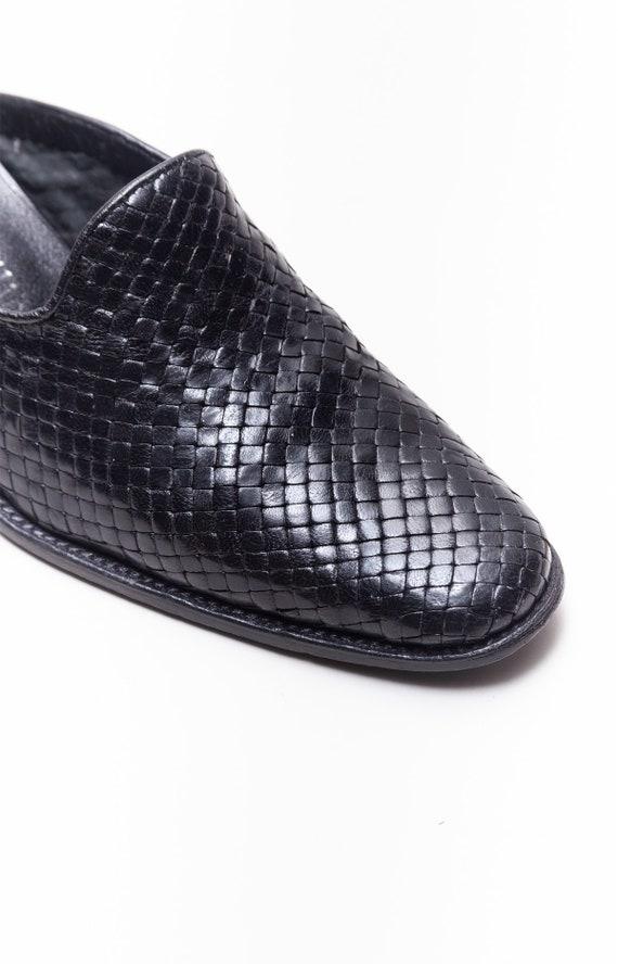 Stephane Kelian Vintage Block Heel Woven Leather … - image 6
