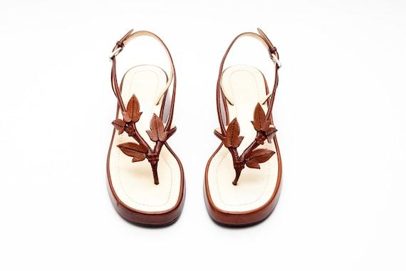 Prada Vintage Platform Sandals Size 36.5