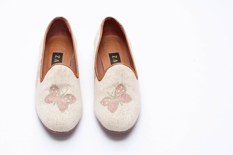b1babcc153f Zalo Vintage Shoes Smoking slippers featuring Patterned
