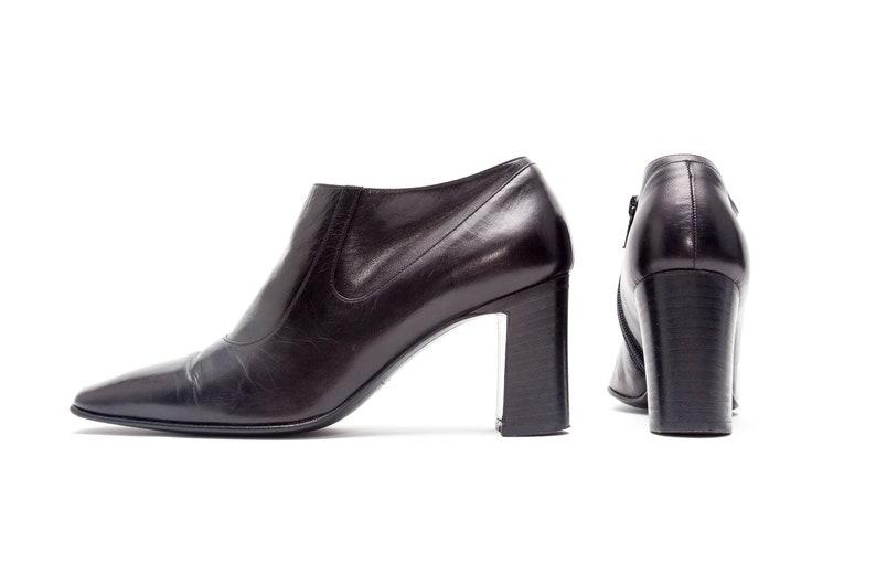 Vintage Italian Leather Ankle Boots \u2022\u00a0Size 5.5