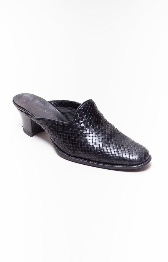 Stephane Kelian Vintage Block Heel Woven Leather … - image 7