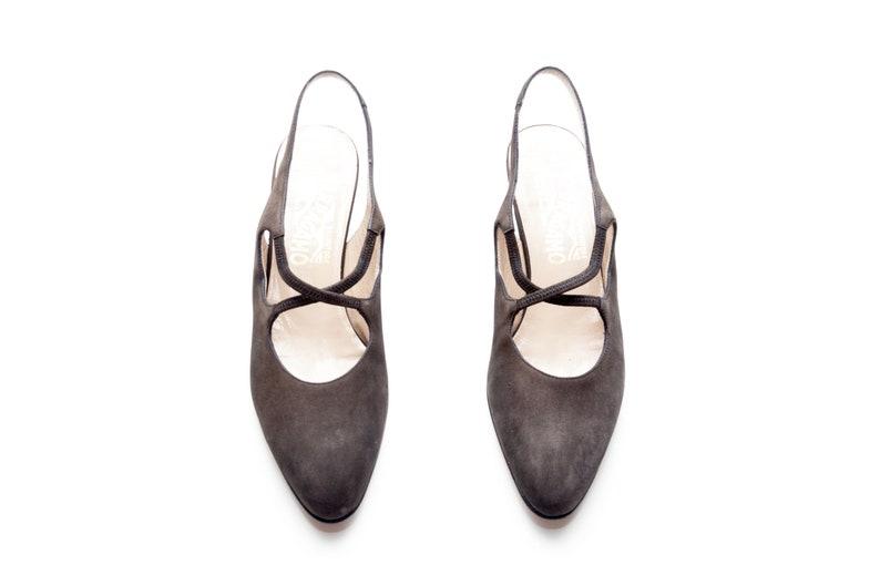 67edc32a8f21 Salvatore Ferragamo    Vintage Shoes    Black Suede Leather