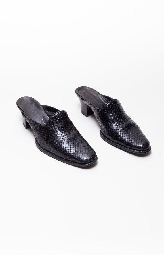 Stephane Kelian Vintage Block Heel Woven Leather … - image 4
