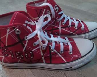 Van Halen 5150, hand-painted sneakers