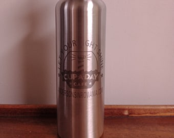 Support for Andersons in Romania Stainless Steel 26 oz. Water Bottles Cup a Day Cafe Fundraiser