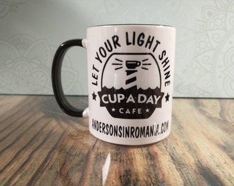 Support Andersons in Romania White Ceramic Coffee Mug with Colored Inside/Handle - 11oz. Fundraiser