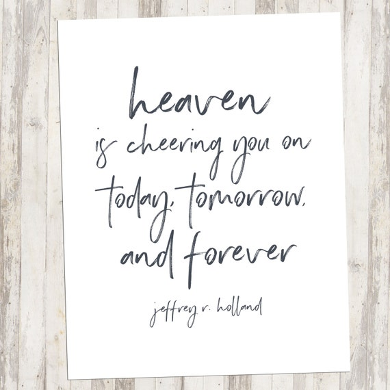 Heaven Is Cheering You On Printable Art Lds Printable Home Etsy