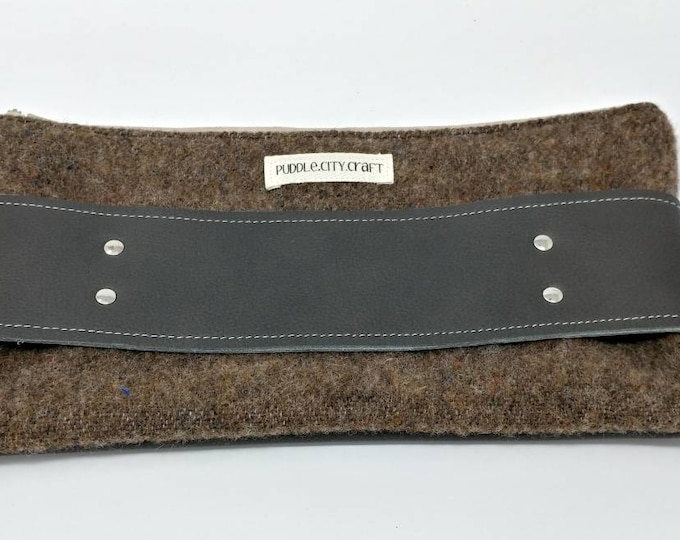 Clutch made with Pendleton ® wool, body handle bag, clutch, wool clutch, brown purse, wool purse, hand clutch