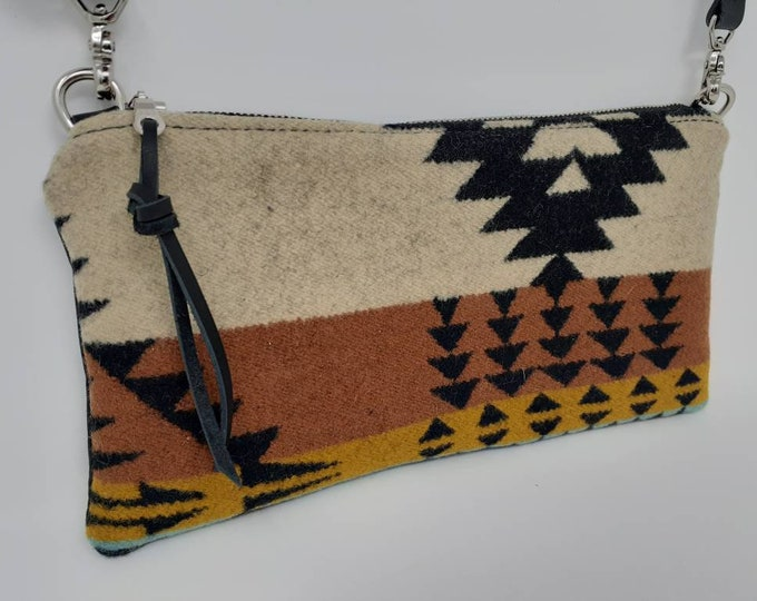 Small crossbody purse | Made with Pendleton Wool | Travel Purse | Shoulder bag