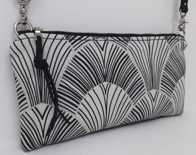 Small crossbody purse | Art Deco print | Travel purse | Small purse
