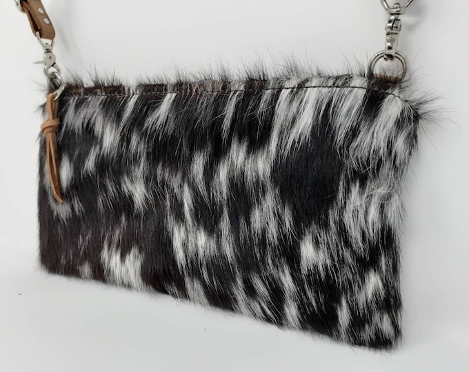 Small crossbody purse | Hair on Hide leather | Travel Purse | Shoulder bag