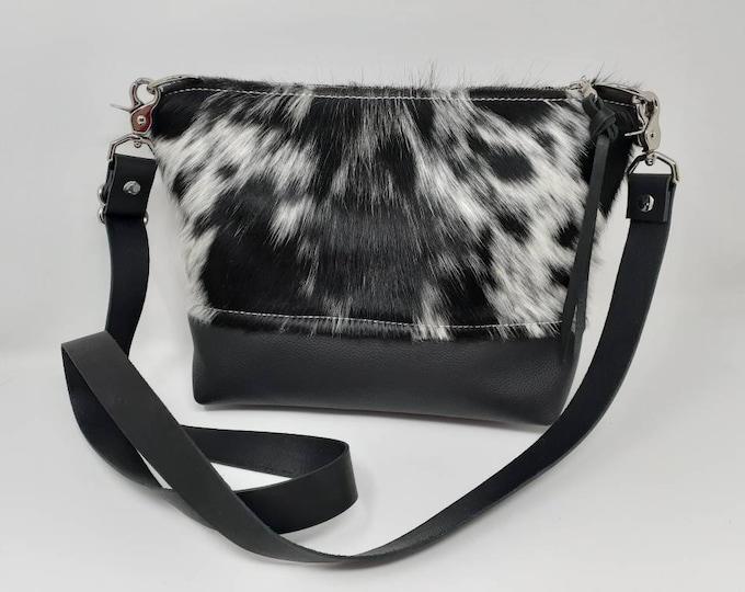 Hair on Hide Leather purse | Medium Crossbody Bag | Cowhide purse | Western purse | Cowgirl purse