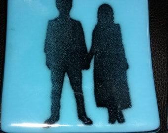 U2 Songs of Innocense Dish/ Fused Glass/ jewelry holder/coaster/SOE/ Zoobaby